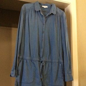 Denim Romper (LOFT)